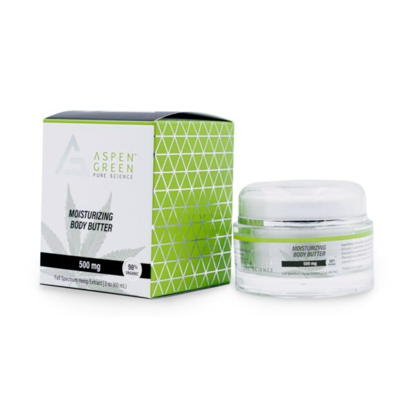 Aspen Green USDA Certified - 500mg Moisturizing Body Butter with box